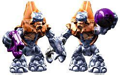 Mega Bloks Halo Covenant Copper Grunt Figure with Plasma Pistol Lot from Series