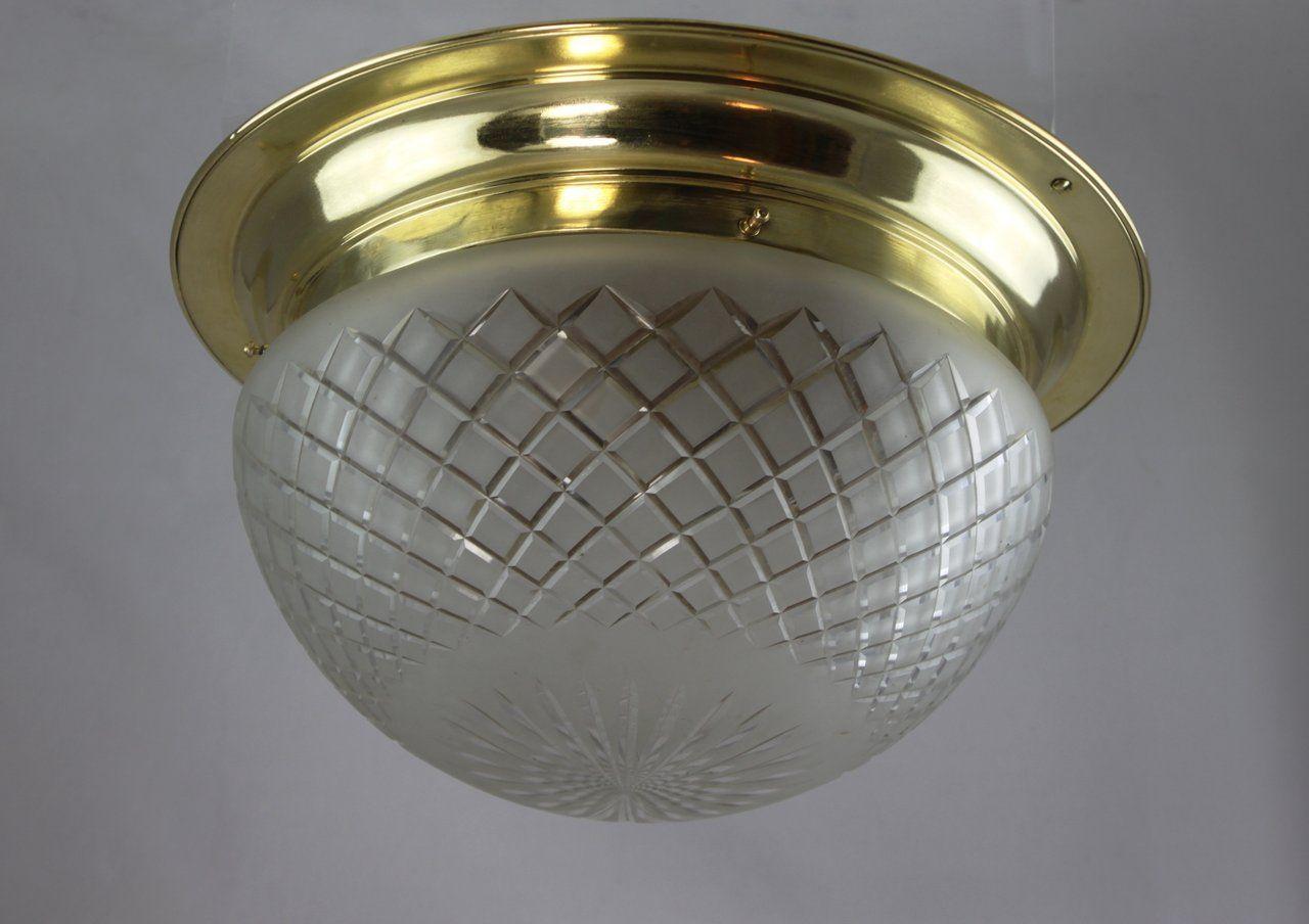 Grosse Jugendstil Plafoniere Deckenlampe Messing In 2020 Jugendstil Lampen Jugendstil Lampe