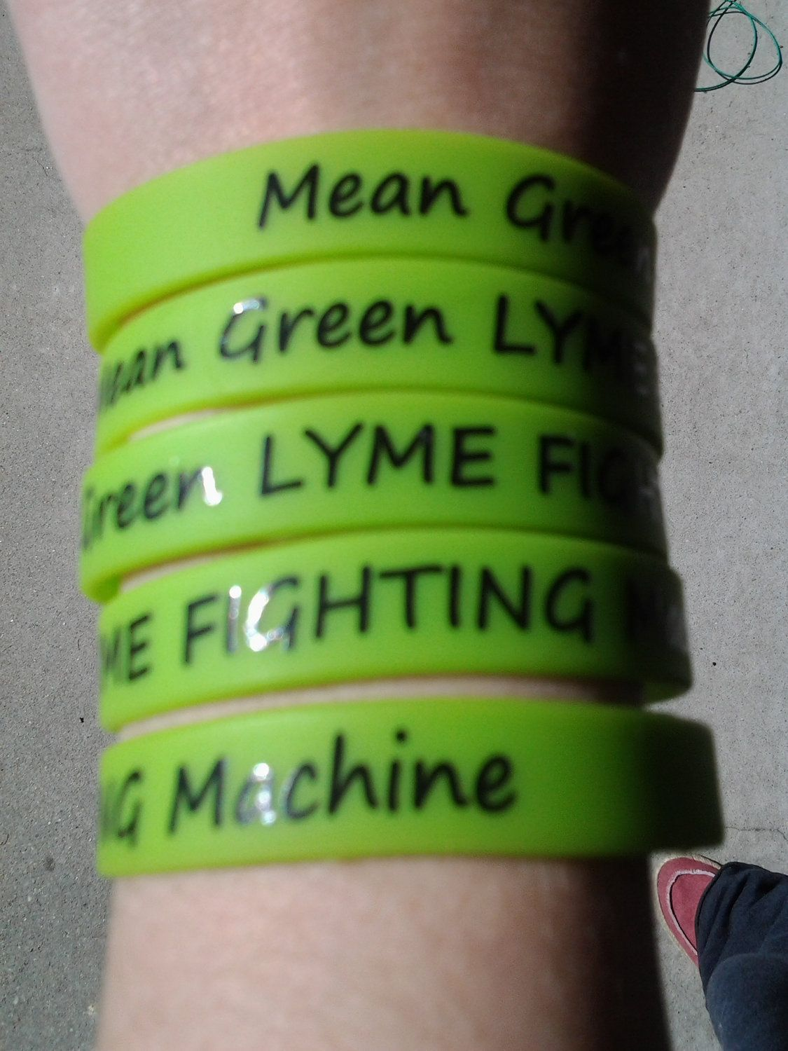 Lyme Disease Awareness Silicone Bracelets Pack Of 5 By Vintagelyme 8 25