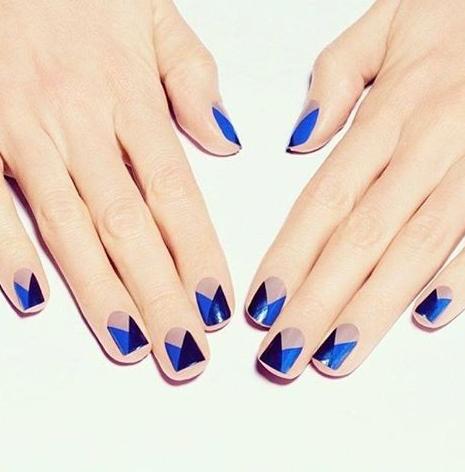 geometric, clean blue