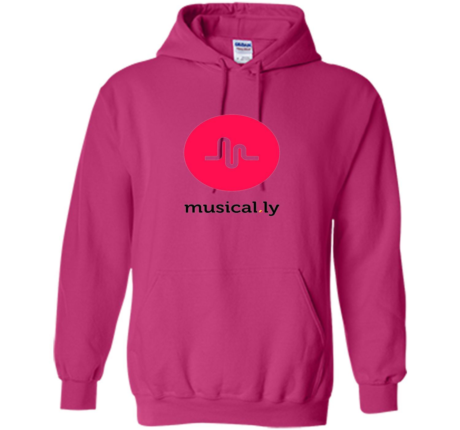 'musical.ly' T-Shirt (White - Fitted Cut)