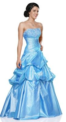 Strapless ball gown in shimmer organza, by Envi Prom- diffrent color