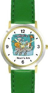 Best Price Noah's Ark No.1 - Biblical Theme - WATCHBUDDY® DELUXE TWO-TONE THEME WATCH - Arabic Numbers - Green Leather Strap-Children's  Large selection at low prices - http://greatcompareshop.com/best-price-noahs-ark-no-1-biblical-theme-watchbuddy-deluxe-two-tone-theme-watch-arabic-numbers-green-leather-strap-childrens-large-selection-at-low-prices