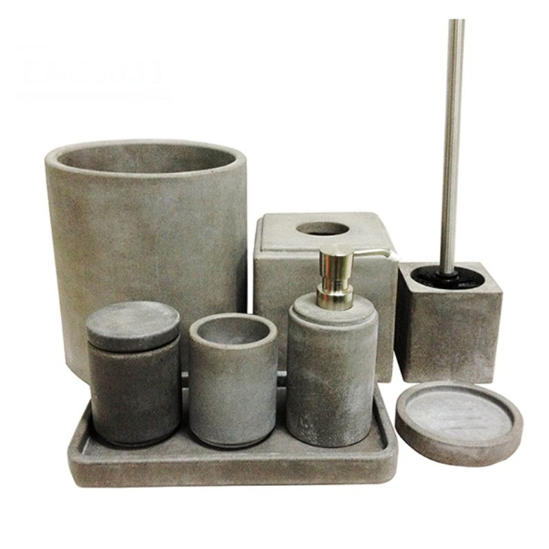 New Cement Polyresin Soap Dish Toothbrush Holder Customized