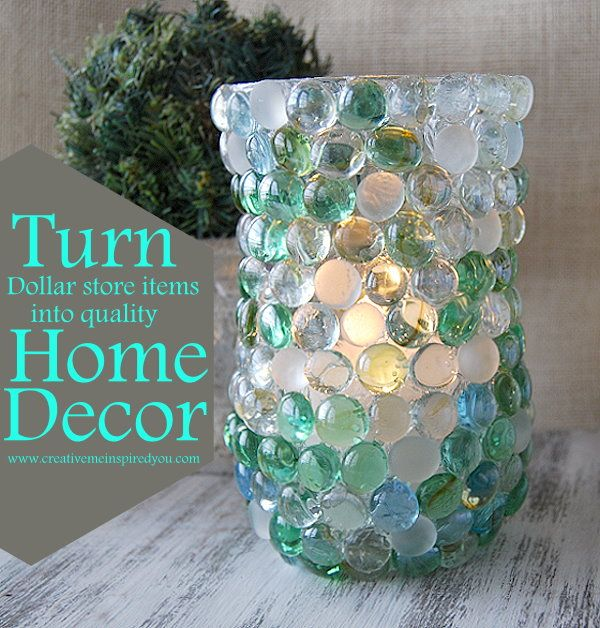 Create A Glass Bead Vase With Dollar Store Items
