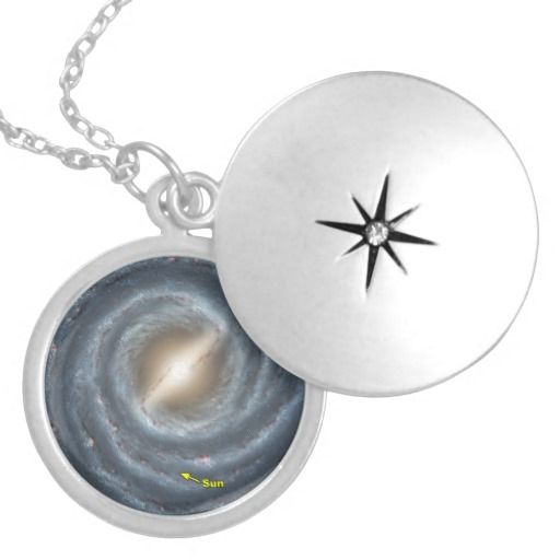 The Sun in the Milky Way Custom jewelry necklace