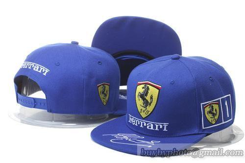 Ferrari Snapback Hats Caps Blue  2f4481ca653