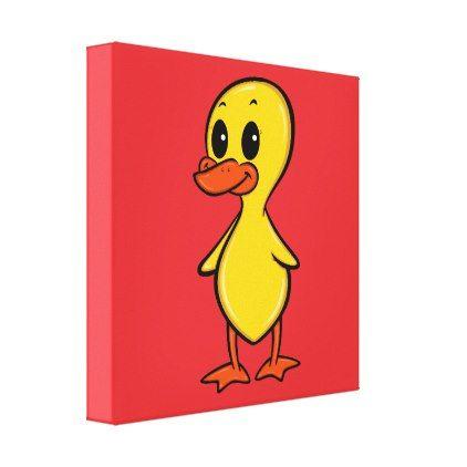 #cute - #Cute Cartoon Duck Canvas Print