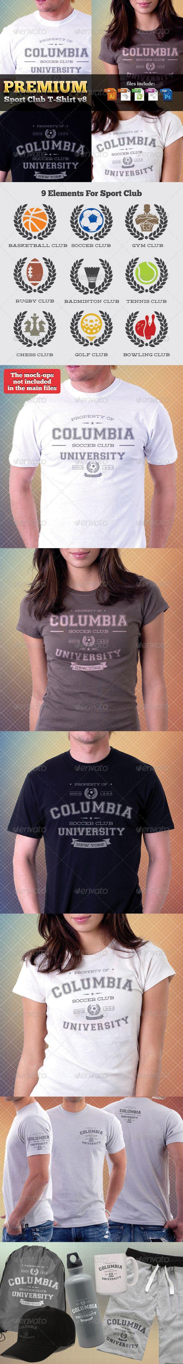 premium sport clubs t shirts templates v8 shirt template trendy tshirts custom tshirt design pinterest