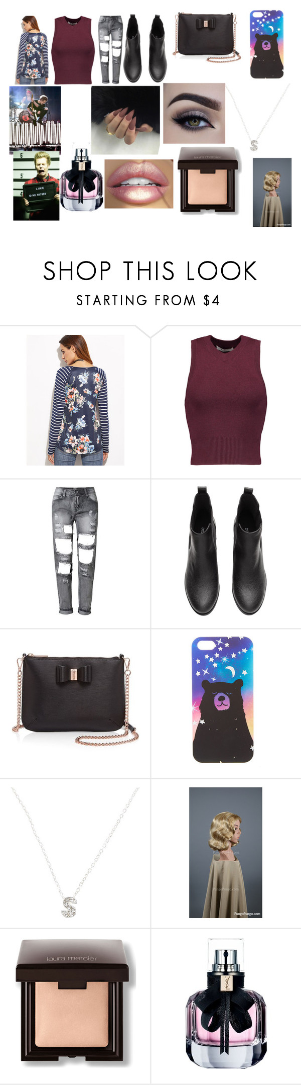 """Christmas Shopping with Luke"" by larryandtarillforeverr14 ❤ liked on Polyvore featuring T By Alexander Wang, Ted Baker, claire's, Laura Mercier, Prada and Yves Saint Laurent"