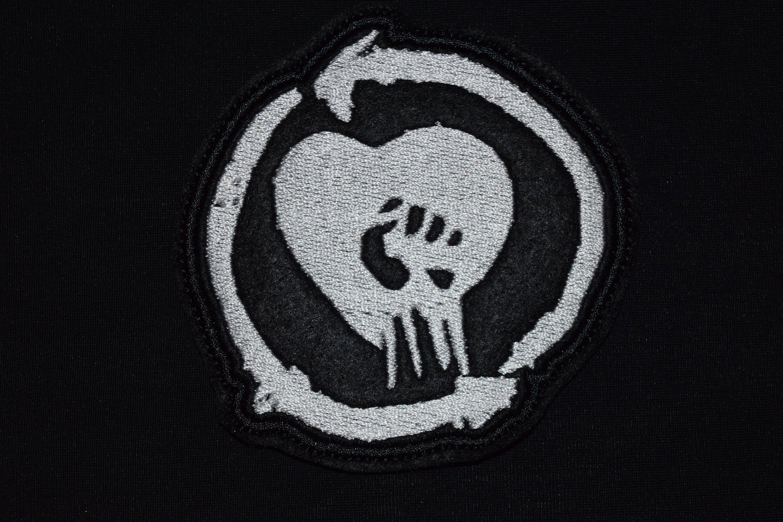 Rise against patch logo symbol jacket sew on applique vest jacket