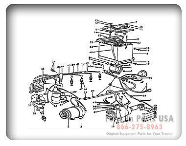 Ford 8N 11J02 Electrical Wiring 8N ASN 263844 Tractors