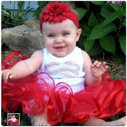 Flourishes Ribbon TuTu in Red