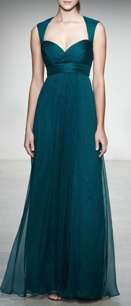 Amsale Crinkled Silk Chiffon Gown | WOMEN\'S FASHION OF ALL KIND ...