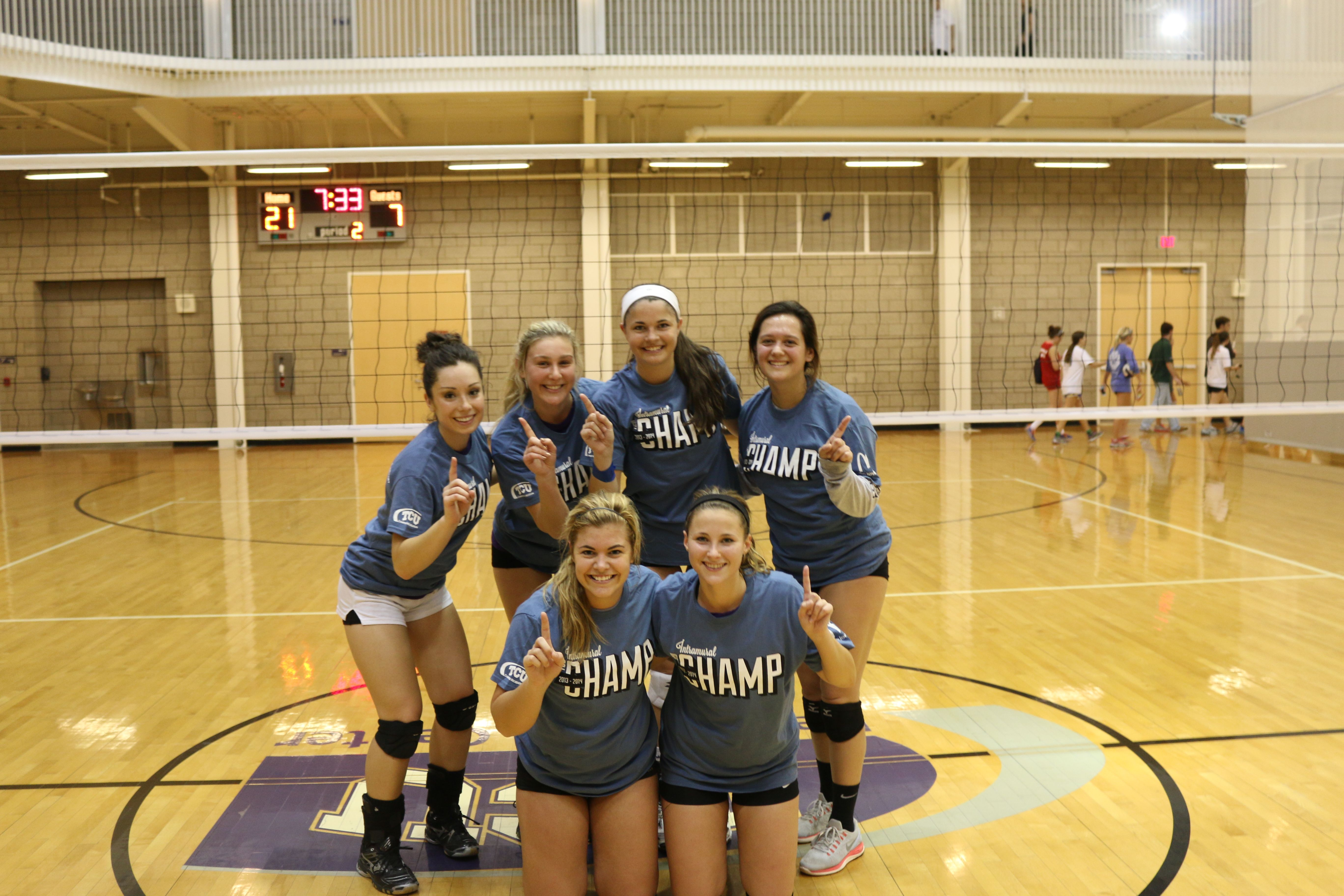 Women S Indoor Volleyball Champs Indoor Volleyball Sports Clubs Intramurals