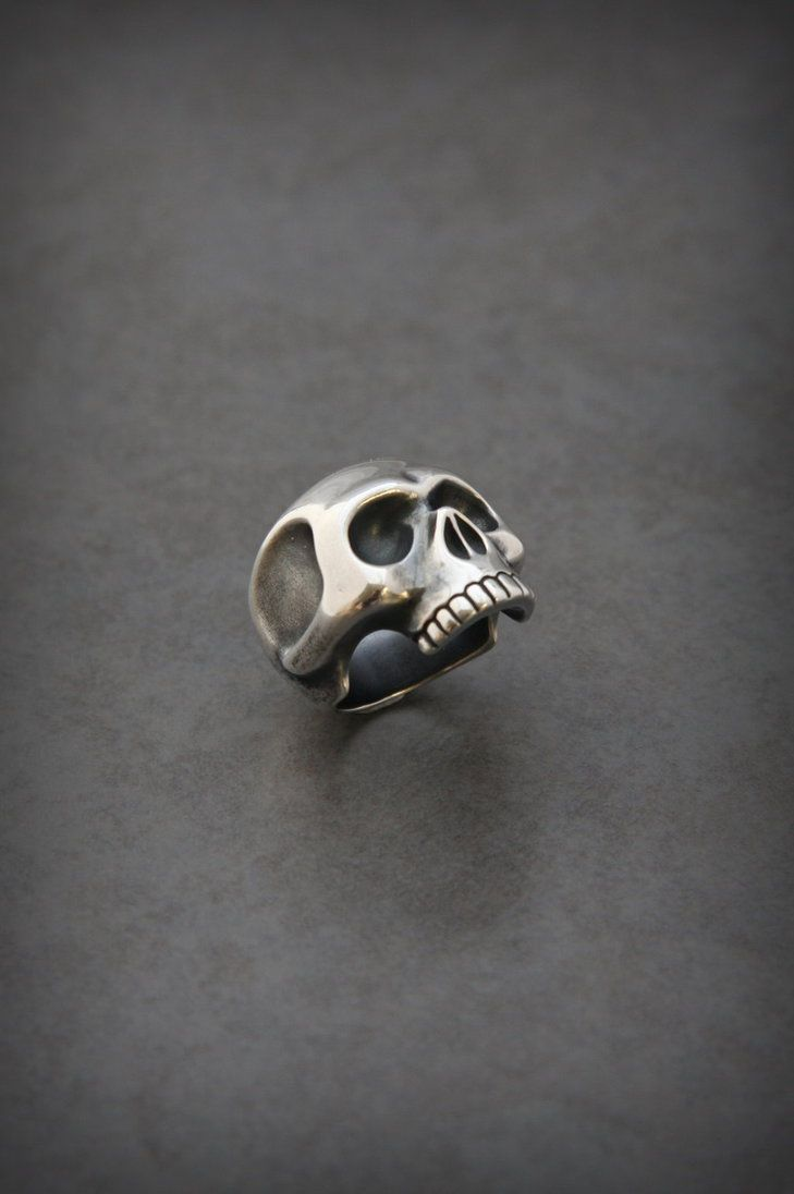 Silver Skull Ring by MatthiasBlack