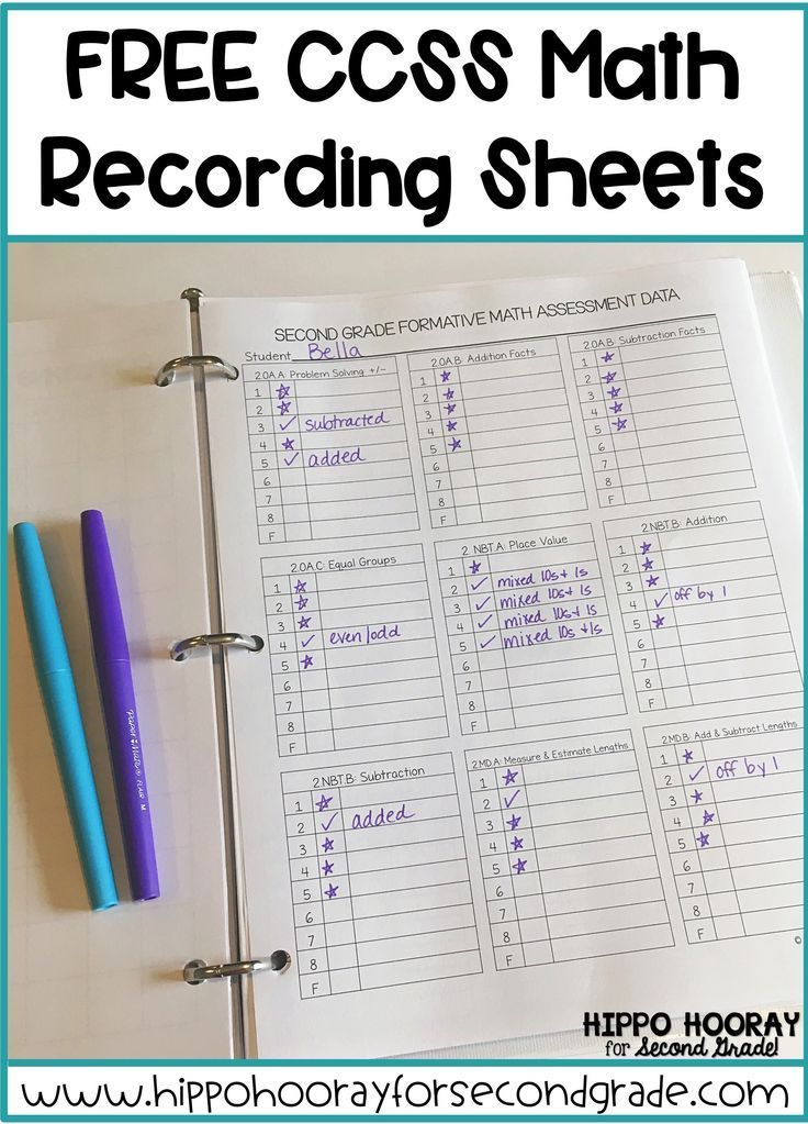 FREE Math Recording Sheets! Formative assessment, Recording sheets