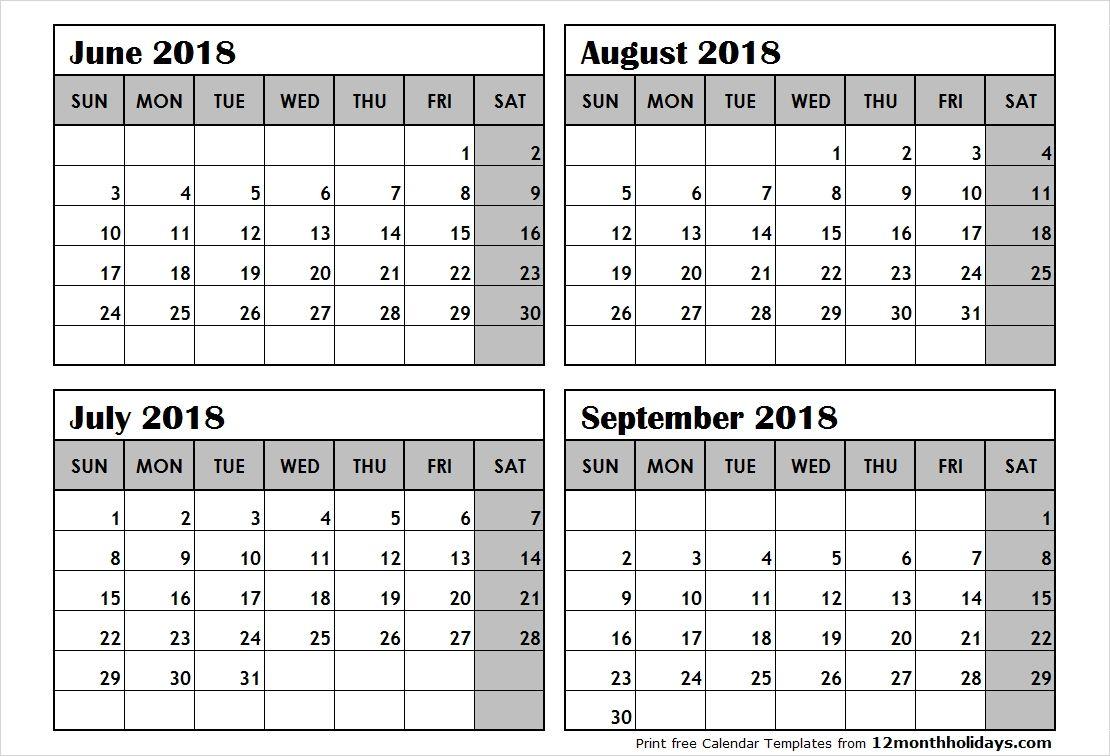 4 Month Calendar Template Blank Calendar Template Calendar Printables Free Calendar Template