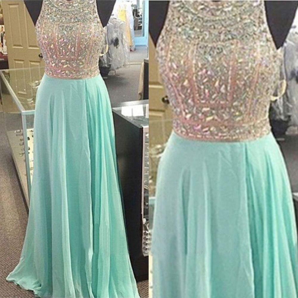 Crystal Prom Dress,Sexy Evening Dress,Chiffon A Line Prom | Đřꧧê ...