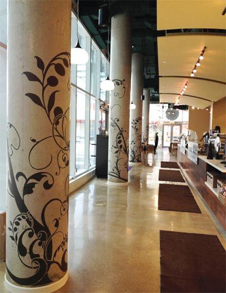 Gorgeous Stenciled Columns | Modello® Designs vinyl stencils were ...