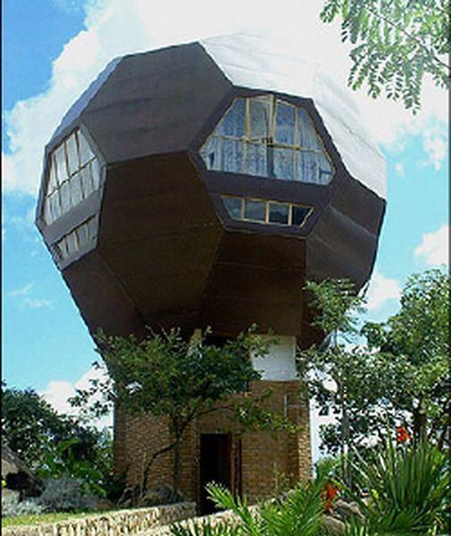 The Football House by Dutch Architect Jan Sonkie