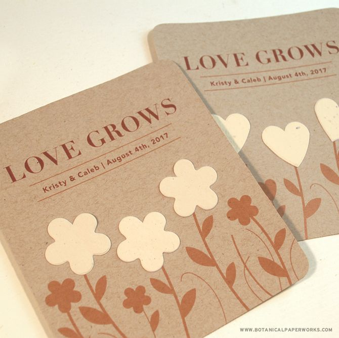 Garden Of Love Seed Paper Wedding Favors Pinterest Seed Paper