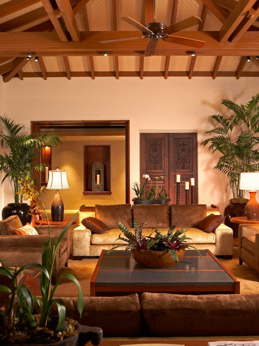 Beautiful Balinese Style House In Hawaii: Perfect Look Of Modern Balinese Inspired Living Room