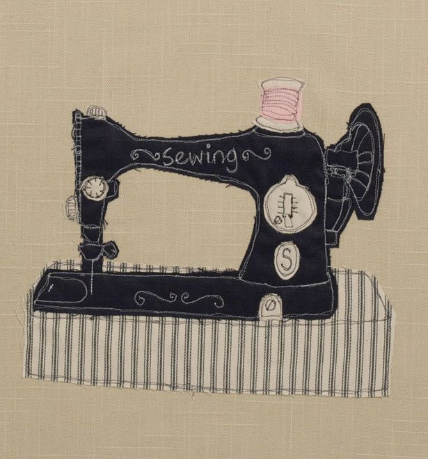 how to applique with sewing machine