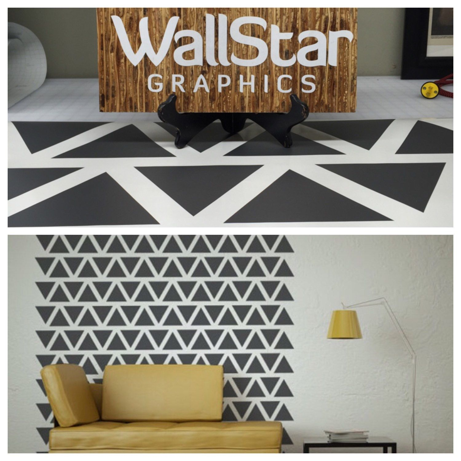 Triangle Wall Decal Triangle Decals Nursery Wall Decal - How to put a wall decal up