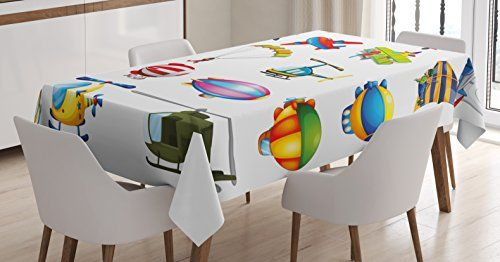 Boy S Room Tablecloth By Lunarable Different Types Of Air Travel