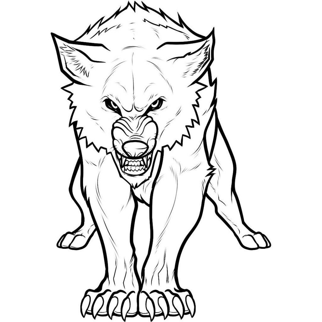 Free Printable Wolf Coloring Pages For Kids | Angry wolf ...