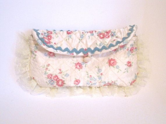 Vintage quilted floral clutch by TheRetroSeamstress on Etsy