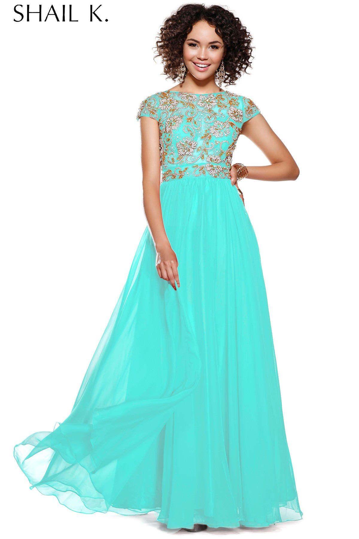 2015 shailk sparkle sequins long prom dresses with modest