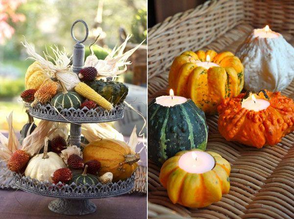 Un centre de table aux couleurs de l 39 automne centres de - Centre de table automne ...
