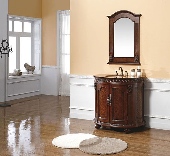 demilune shape is lovely - light use room so oval top really not an issue - molded glass top = high style