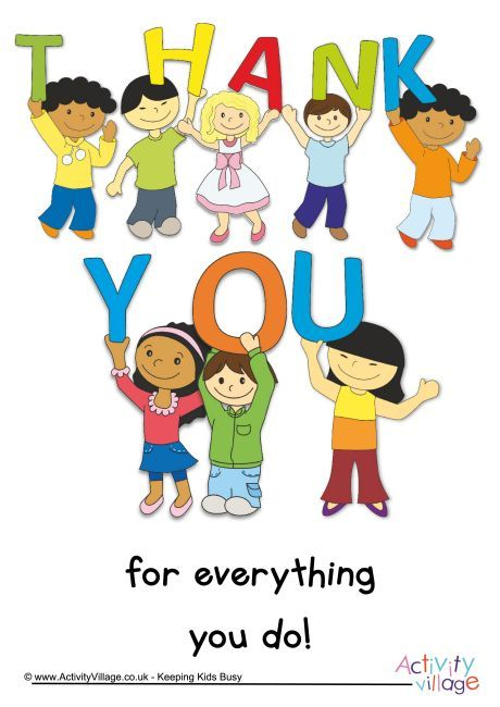 thank you for everything you do poster for teacher appreciation on