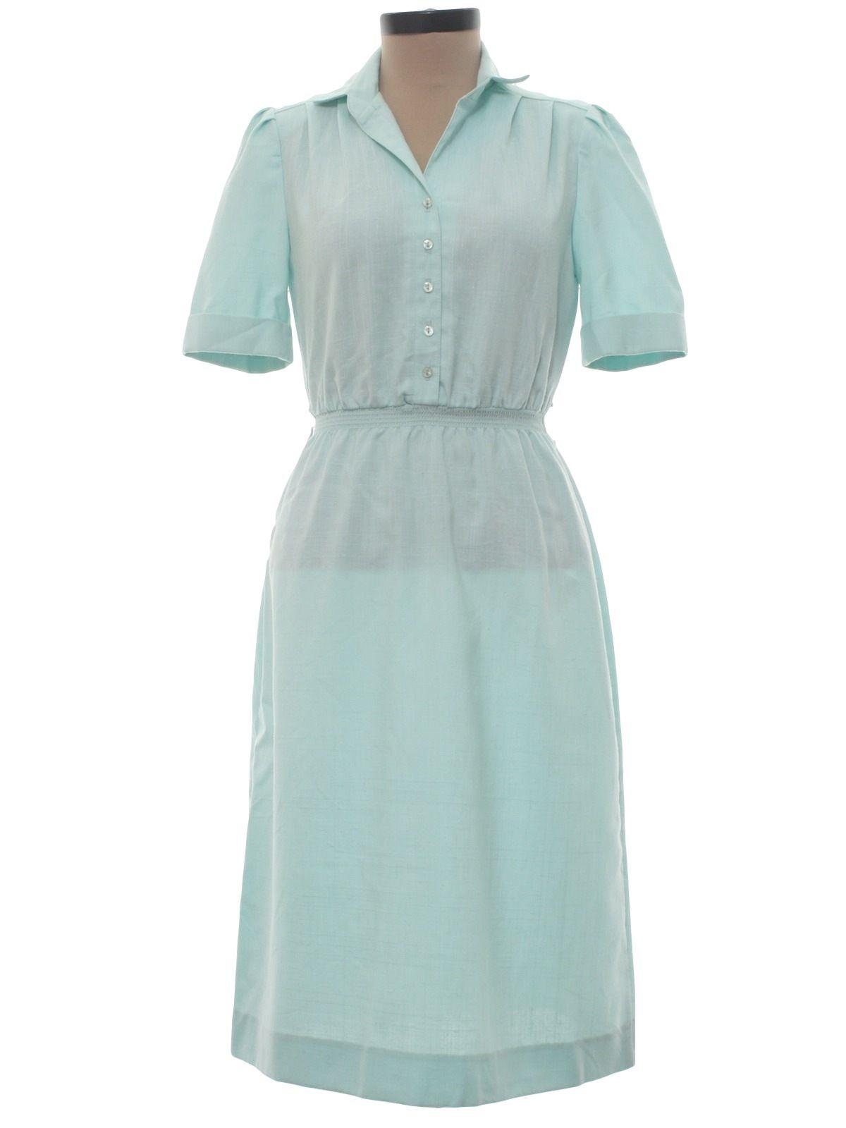 528005d80cb3 Leslie Fay 1980s Vintage Dress  80s -Leslie Fay- Womens soft sea foam green