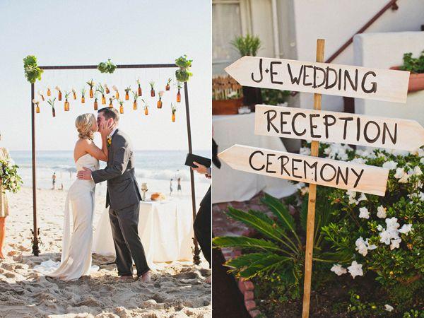 Vintage Beach Wedding Ceremony: Rustic Summer Beach Wedding