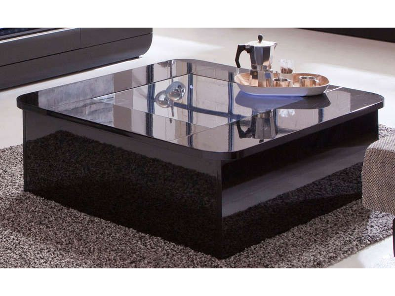 Table basse floyd coloris noir pas cher c 39 est sur for Table basse london conforama