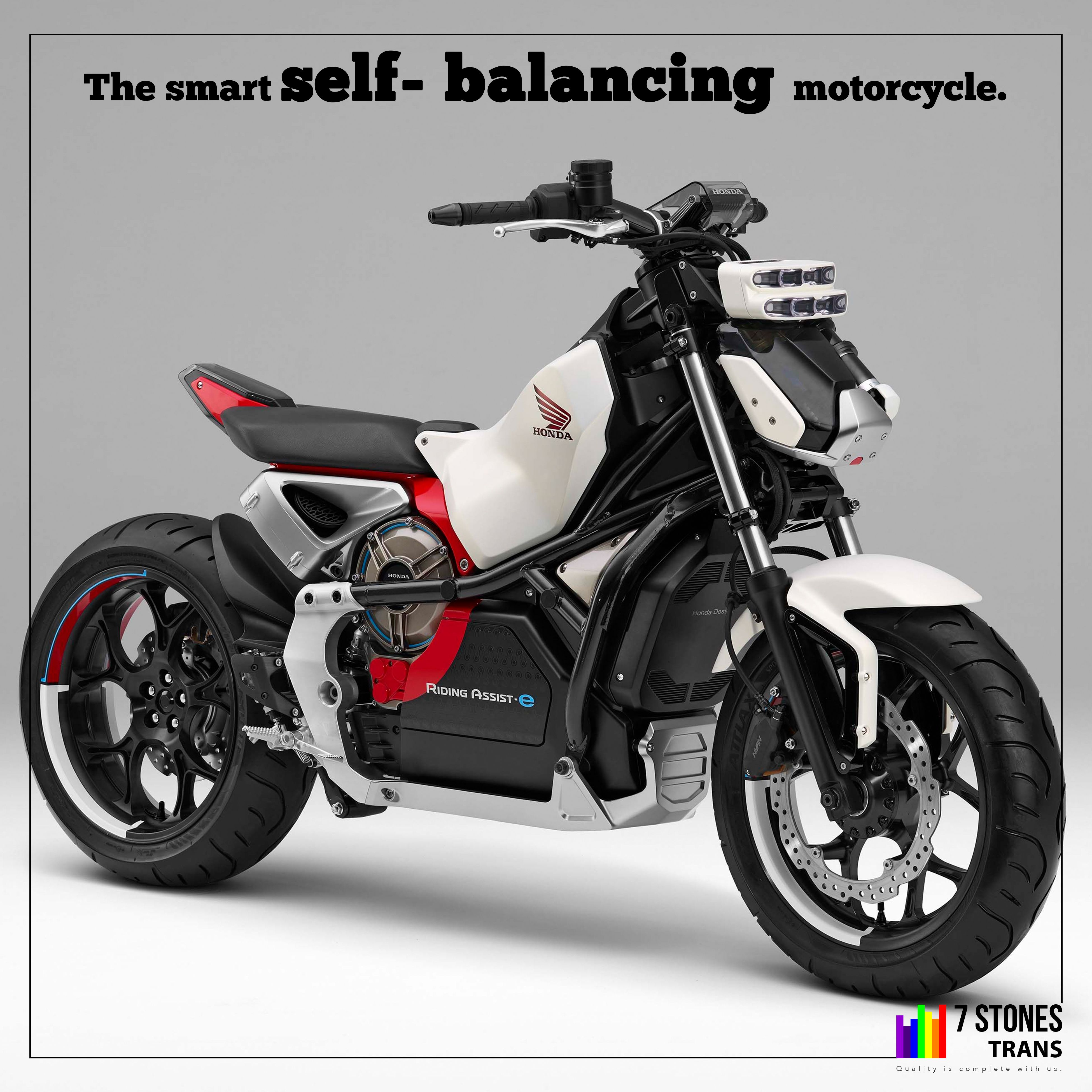 A self-riding vehicle unveiled by Honda. And this technology can reduce accident and lessen the possibility of falling over when the bike is at rest. The Moto Riding assist #7ST #transportation #transportationsystem #vehicle #twowheeler #selfbalancing #hondatwowheeler #motoriding #hondavehicles #balancingmotorcycle