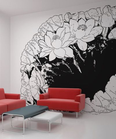 Vinyl Wall Decal Sticker Flowers and Leaves #OS_AA248 | Stickerbrand wall art decals, wall graphics and wall murals.