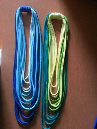 1f26c6b6cb1b Hermosos collares de tela (trapillo) moda
