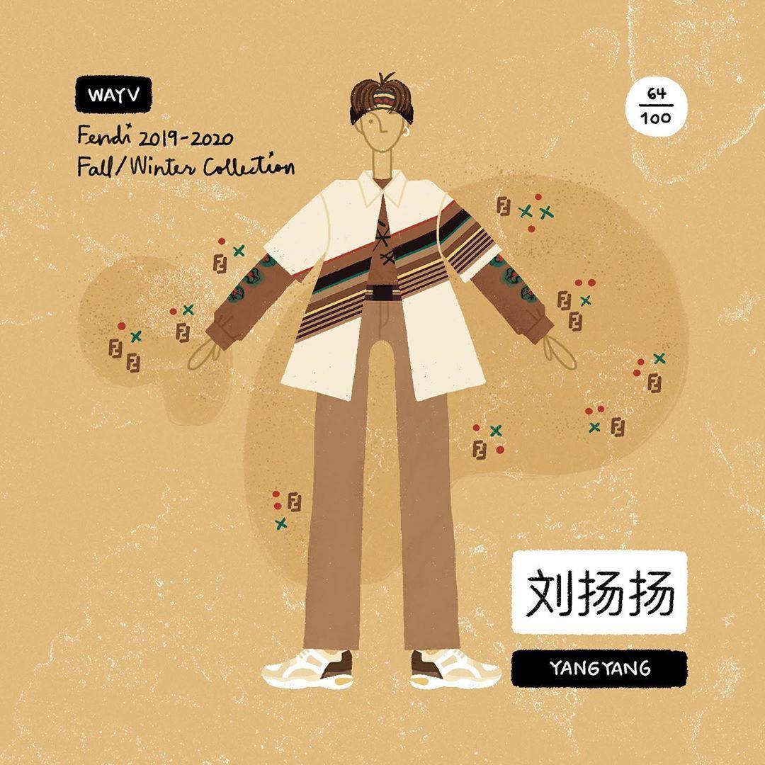 64/100 • WAYV YangYang (刘扬扬) — Fendi Hendery wayv, Nct