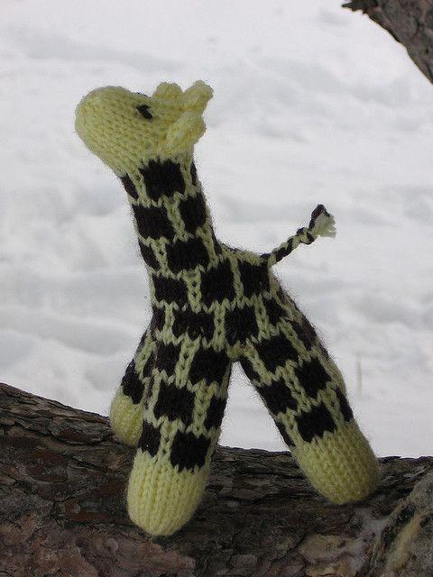 Free Knitting Pattern For Giraffe Toy And More Wild Animal Knitting