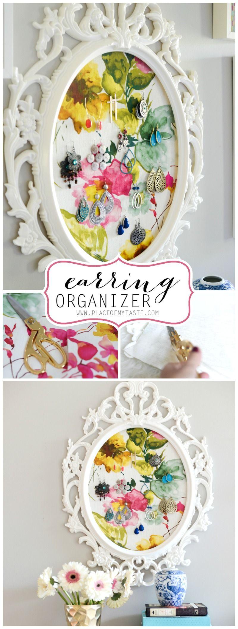 EARRING ORGANIZER | storage | Pinterest | Ohrringhalter, ein Rahmen ...