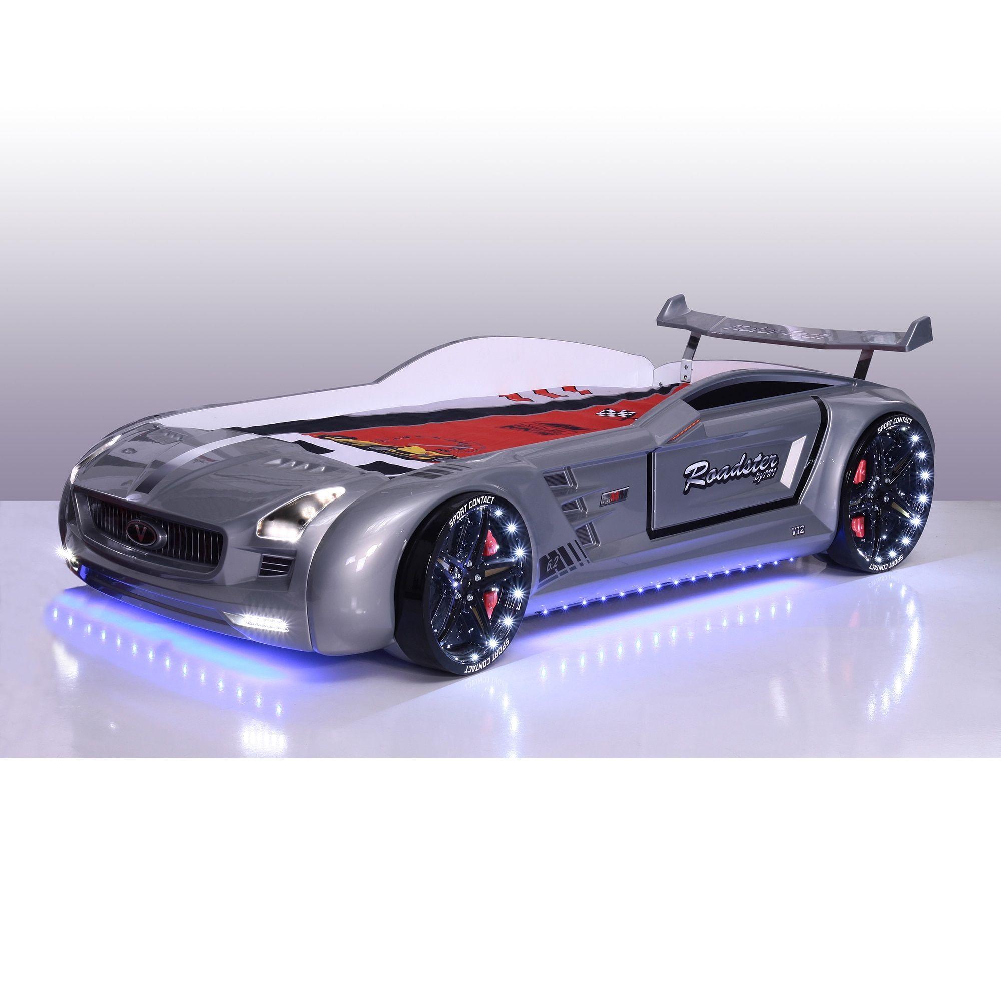 Roadstar Racing Car Bed Grey Color Products Car Bed Kids Car