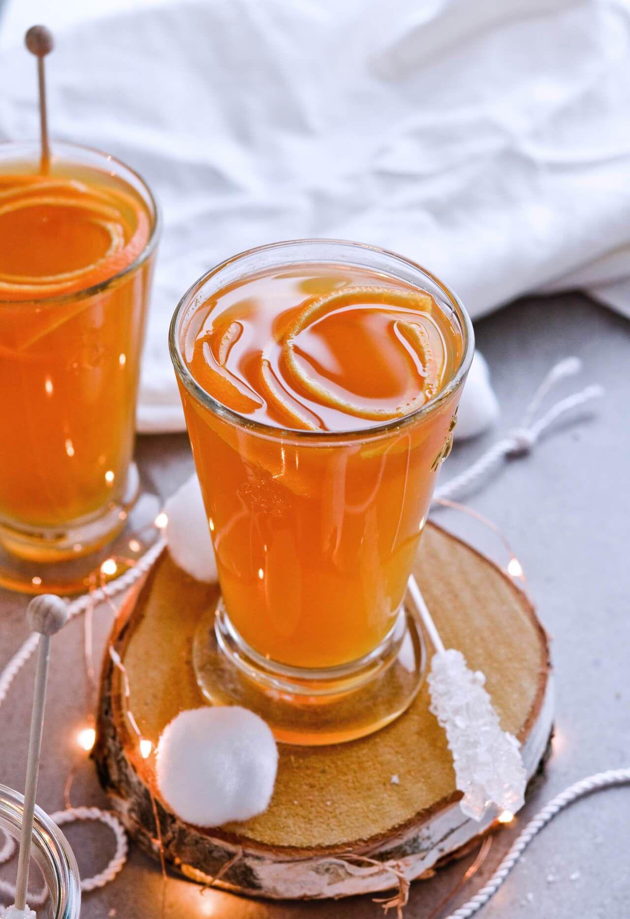Apple tea with orange and cinnamon: recipe