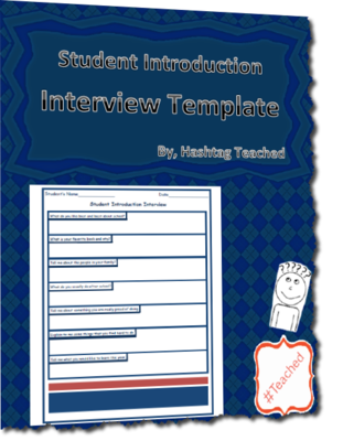 Interview Questions Template Endearing Get To Know You Student Introduction Interview Questions Template .