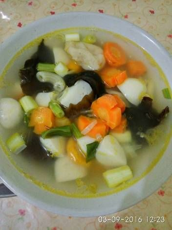 Resep Sup Tahu Putih : resep, putih