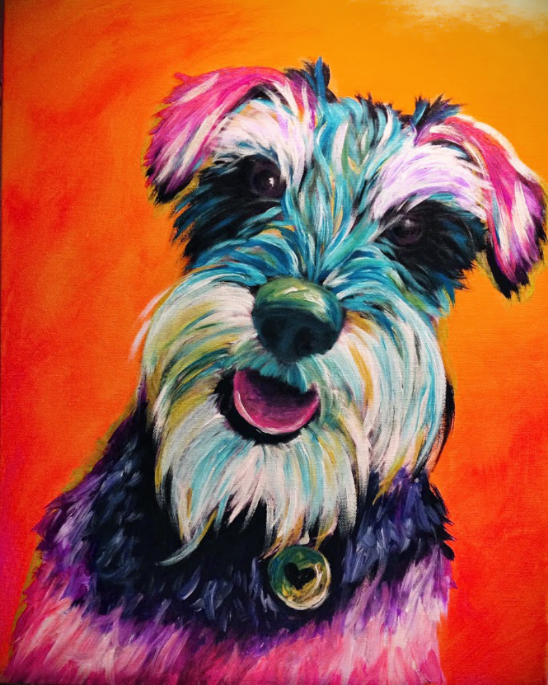 Pinot S Palette Naperville Painting Library Schnauzer Art Dog Paintings Animal Paintings